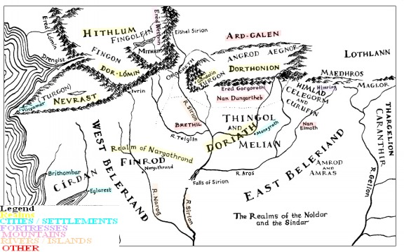 children of hurin map - photo #3