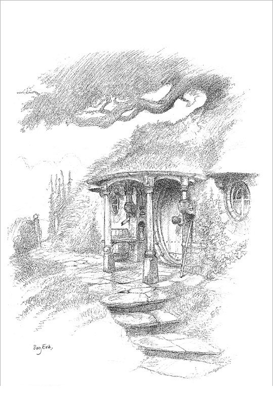 Council of elrond lotr news information sketches for Hobbit house drawings