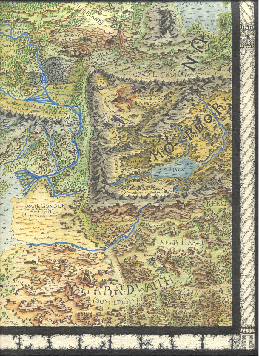 Council of Elrond LotR News Information Middle Earth map by